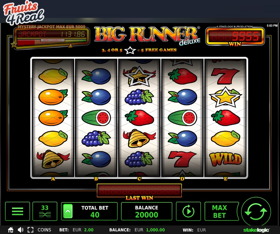 Fruits 4 Real Casino voegt Big Runner Deluxe toe